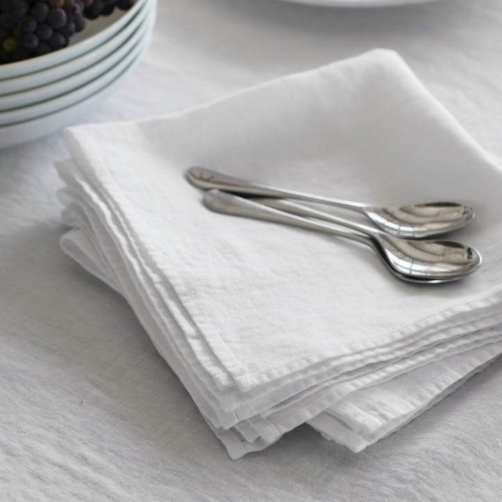 Simple Hem Napkin, White