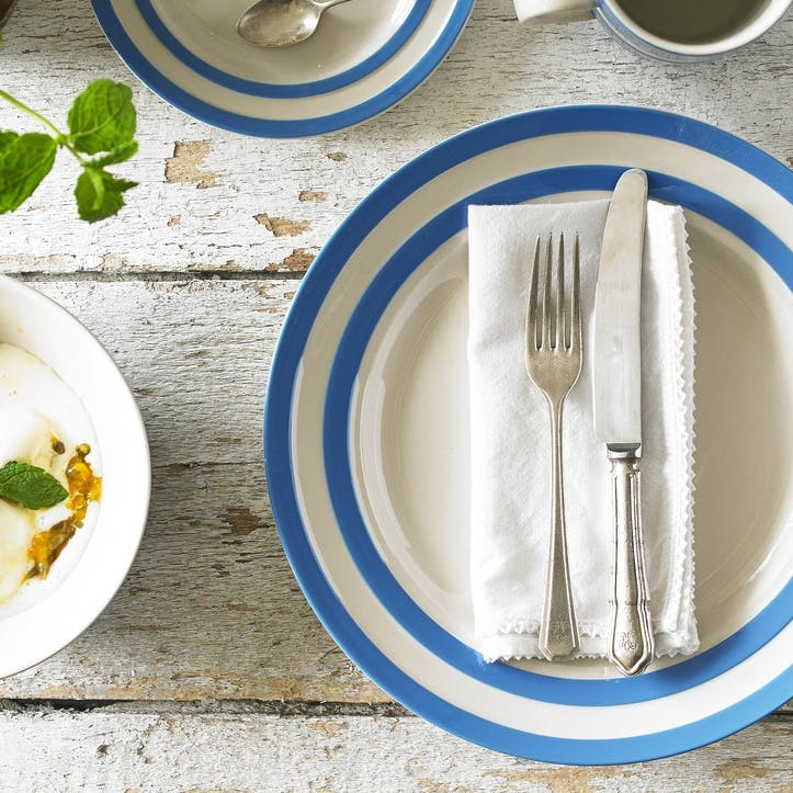 Cornish Blue Dining Set for Two