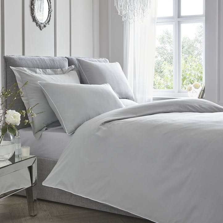 Pure Bedding Set, Super King, Silver