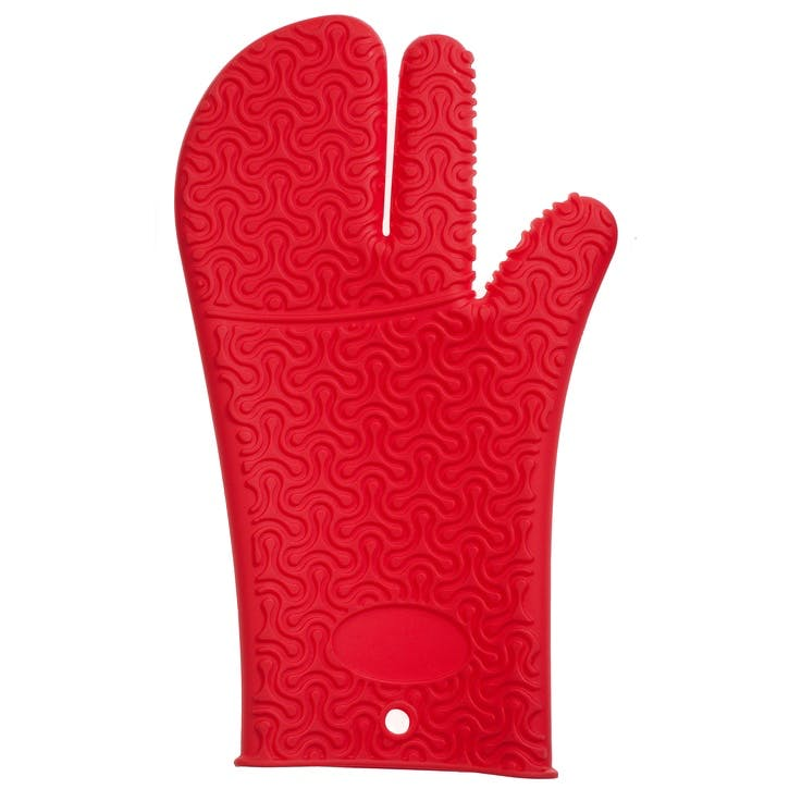 Silicone Mitt, Red