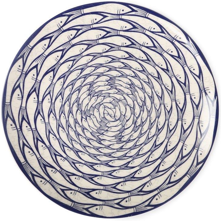 Sardine Run Charger Plate, 32cm, Blue