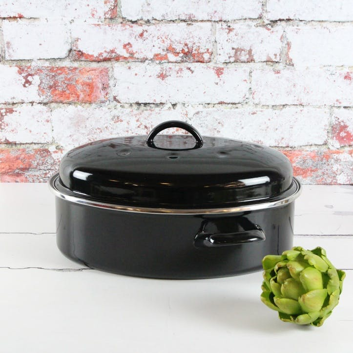 Induction Oval Roaster, Black