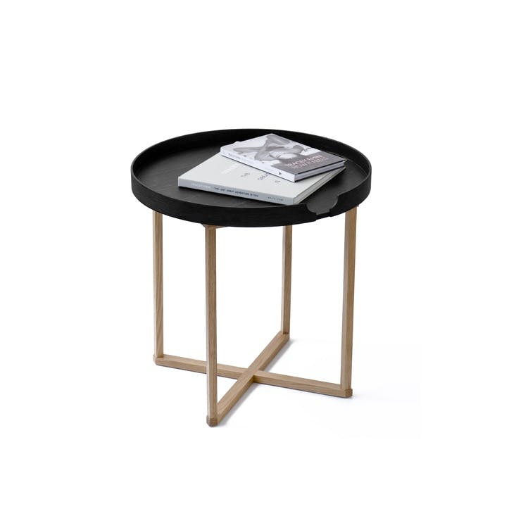 Damien Round Tray Table, Black