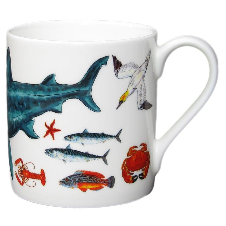 Basking Shark/British Marine Species Large Mug - 9cm x 8cm