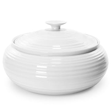 Low Casserole Dish; White