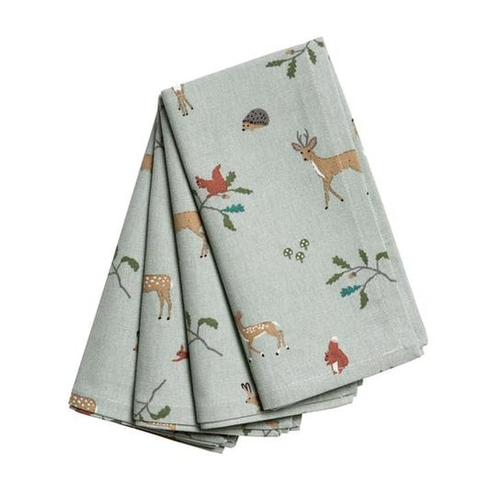 'Woodland' Napkins, Set of 4