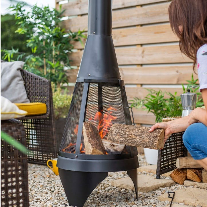 Colorado Mesh Chimenea, Mesh, Black