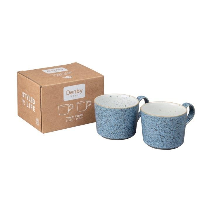 Studio Blue Brew Coffee Cup, Set Of 2