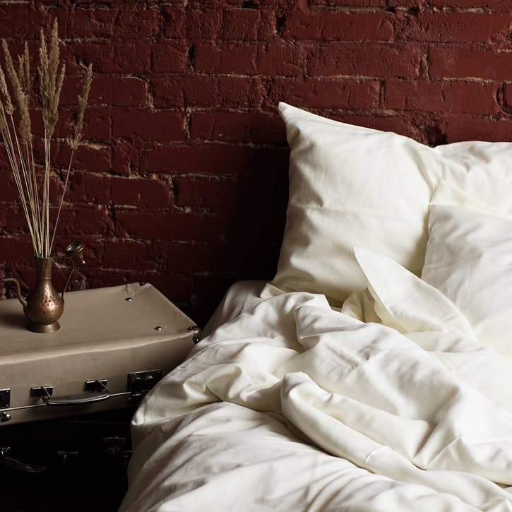Linen & Bamboo Blend Bedding Set, Double, Oyster White