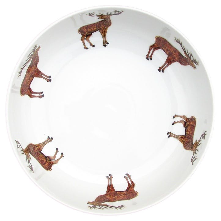Stags Round Bowl - 28cm