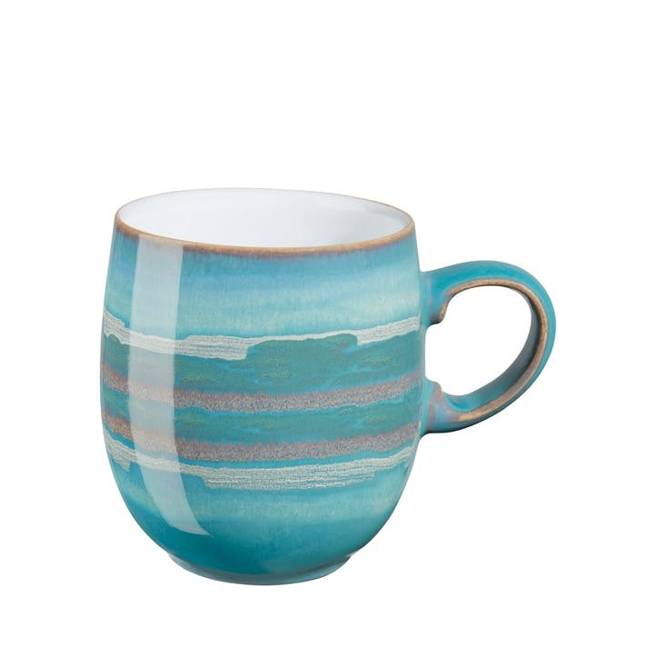 Azure Coast Large Curve Mug, 400ml, Blue
