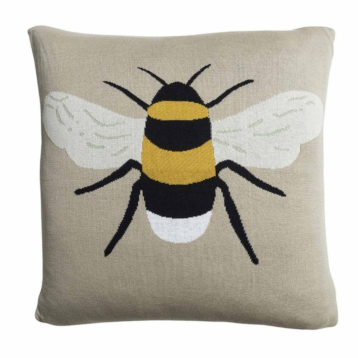 'Bees' Knitted Statement Cushion