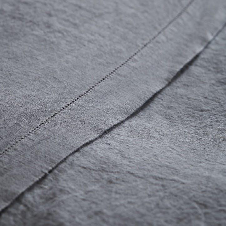 Lens Flat Sheet, King Size, Charcoal