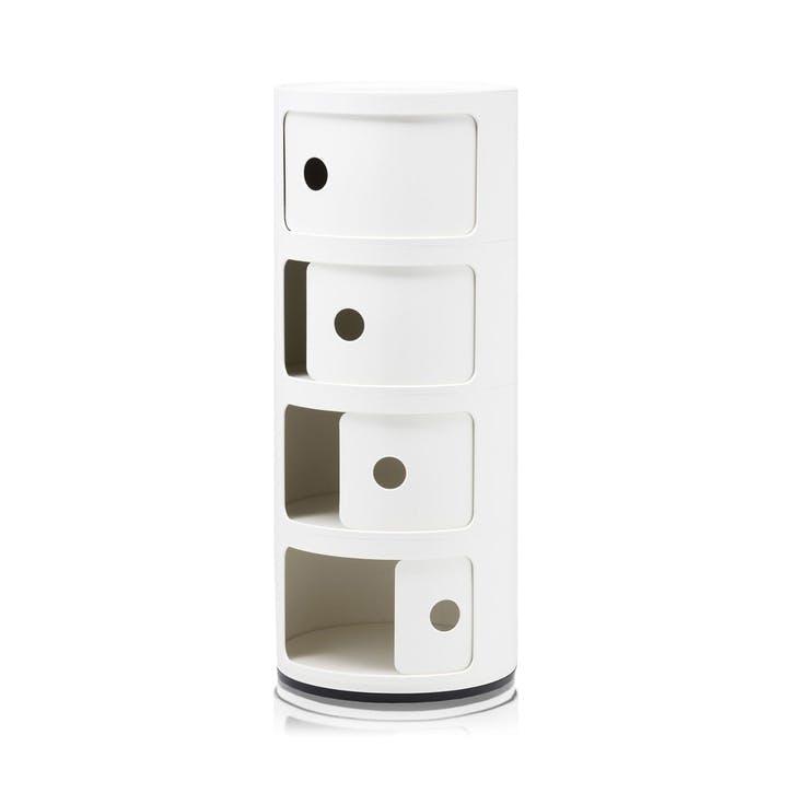 Componibili, 4 Door Cabinet, White