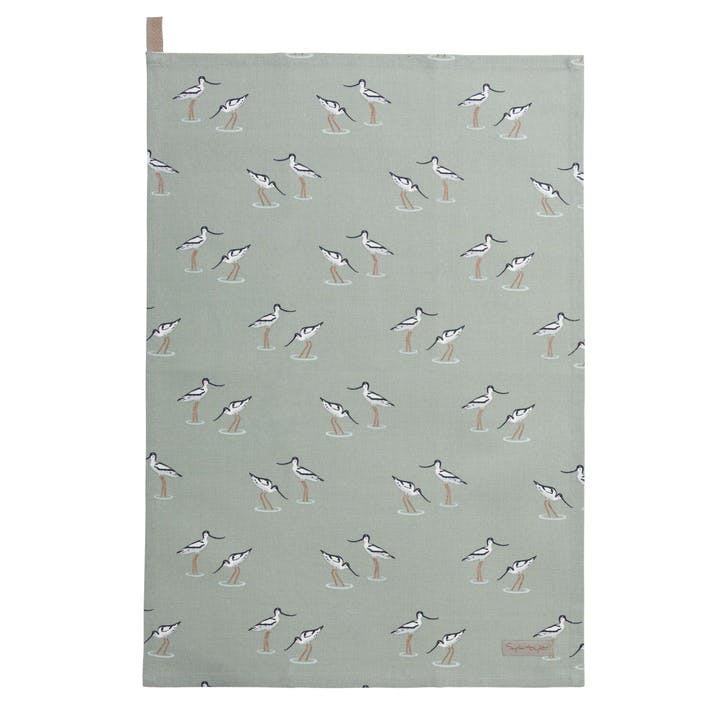 'Coastal Birds' Tea Towel