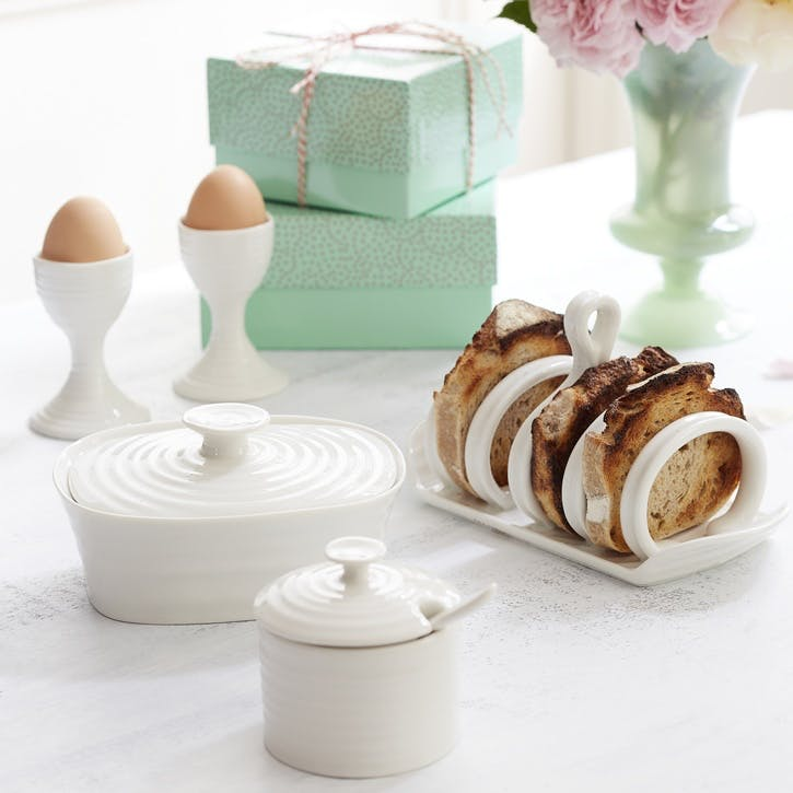 Egg Cups, Set of 2; White