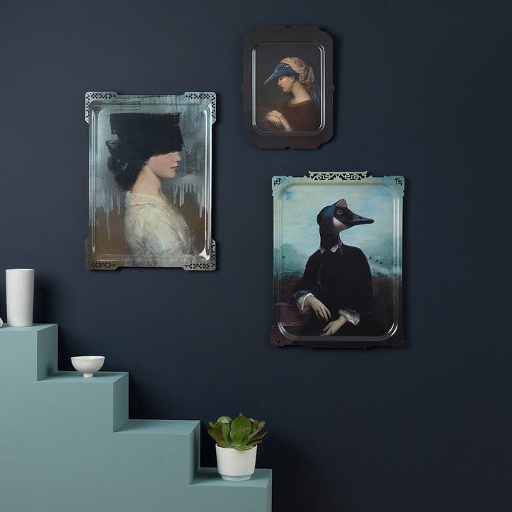 Galerie de Portraits Large Rectangular Tray Ida 2