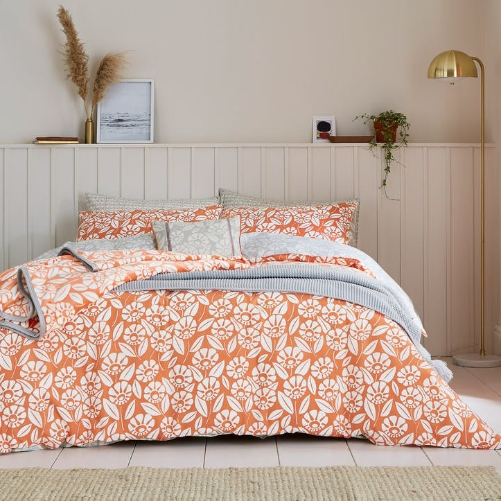 Tivoli Double Bedding Set, Coral