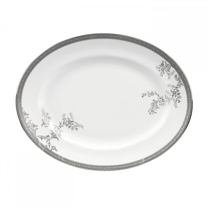 Lace Platinum Dish, Oval