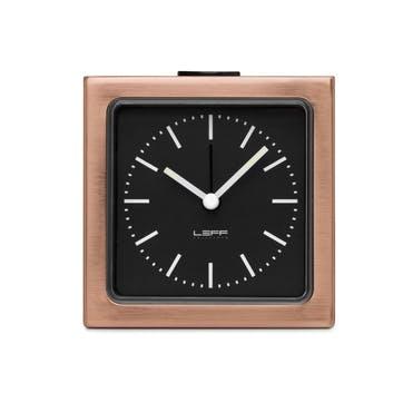 Block Alarm Clock, Copper