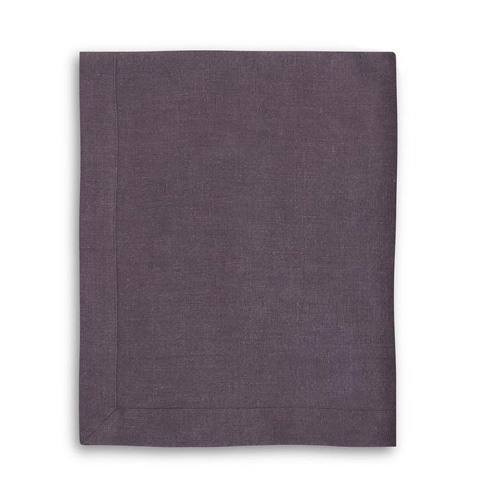 Mitered Hem Tablecloth, Aubergine, 150 x 230cms