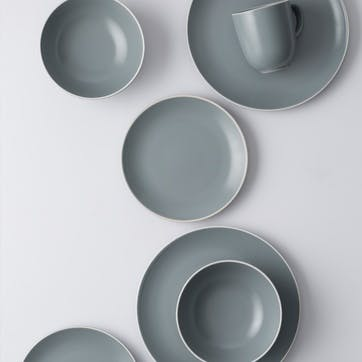 Classic Collection 12 Piece Dinner Set, Grey