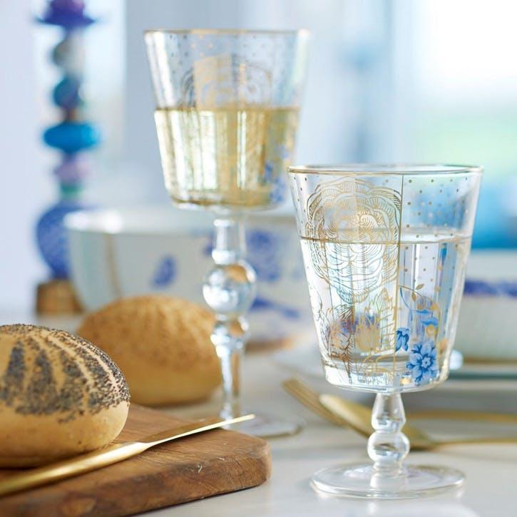 PiP Royal Golden Flower Wine Glass