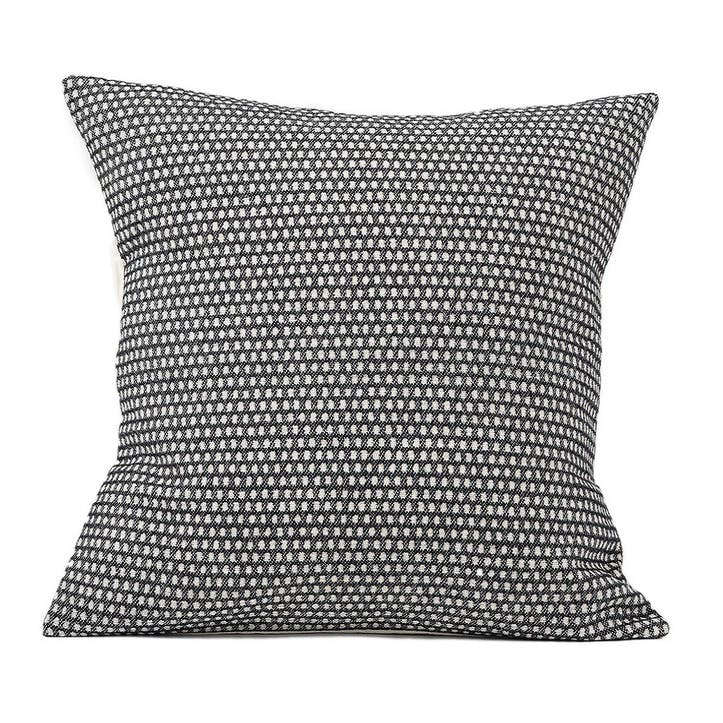Classic Clarendon Cushion - 40cm;  Linen On Black,