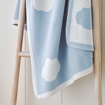 Blue Cloud  Baby Blanket, W100 x L75cm, Blue