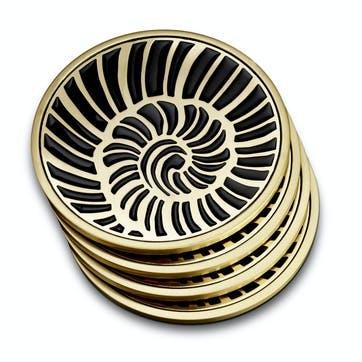 Seashell Coasters, Set of 4