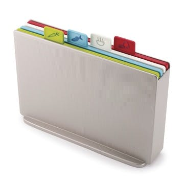 Index Chopping Board Set, Regular, Silver