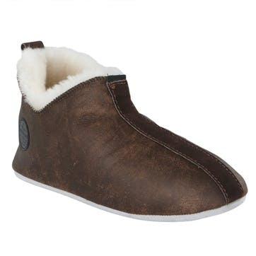 Henrik Mens Slippers - Size 10; Dark Brown