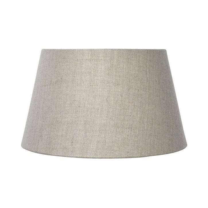 35cm Drum Linen Lampshade, Natural