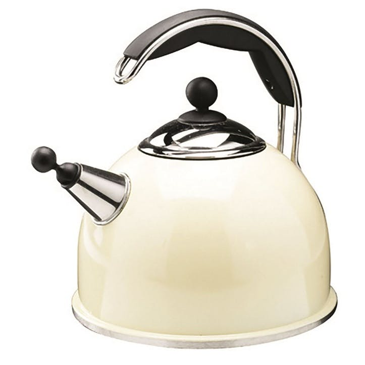Stainless Steel Whistling Kettle, Cream