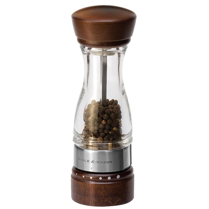Keswick Dark Wood and Acrylic Pepper Mill
