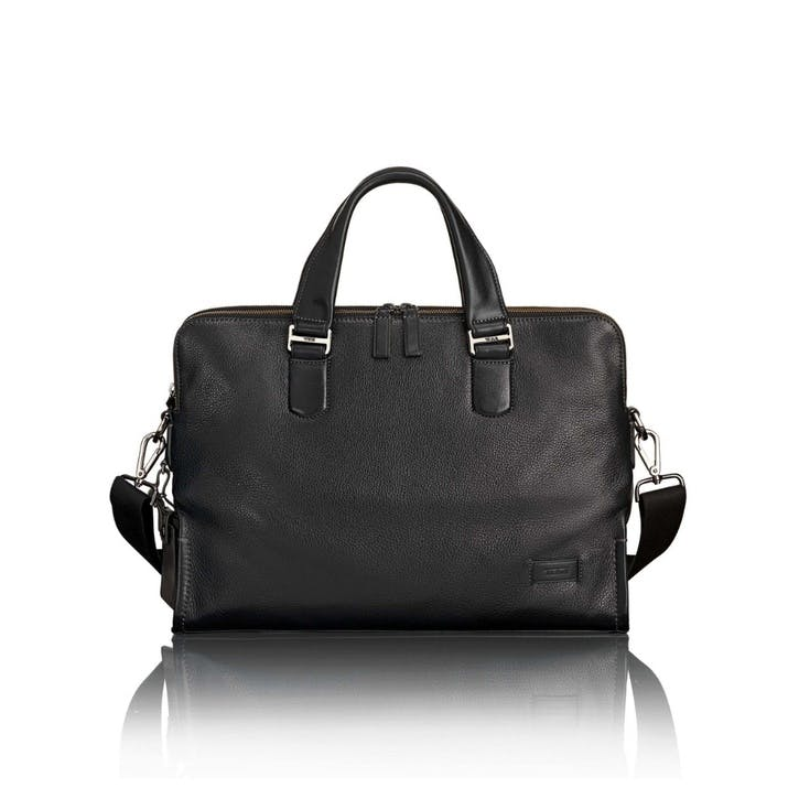 Tumi Harrison Seneca Slim Briefcase, Black
