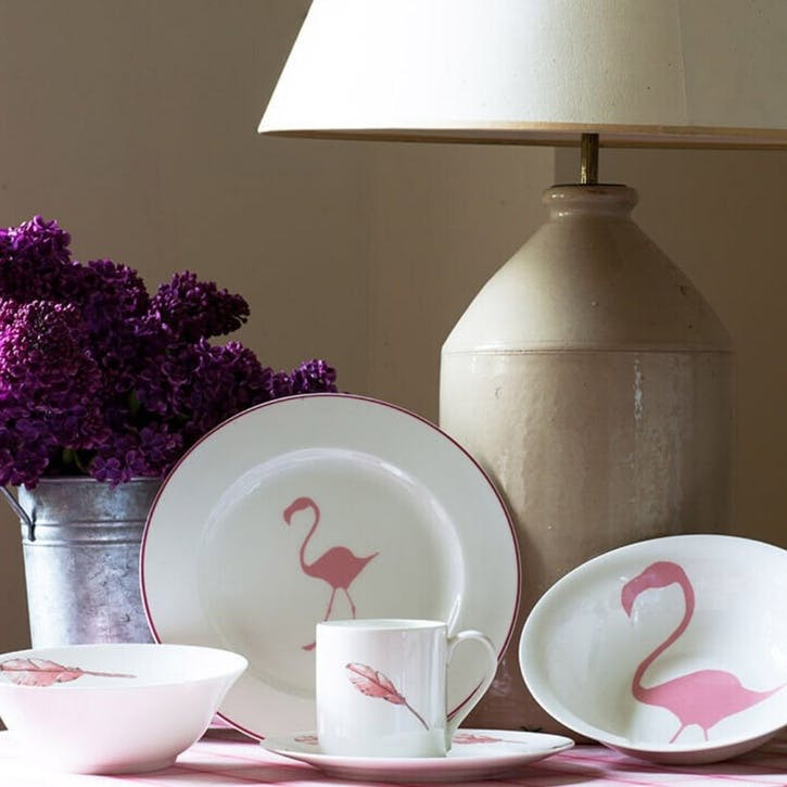 Flamingo Feather Side Plate