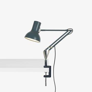 Type 75 Mini Lamp with Desk Clamp, Slate Grey