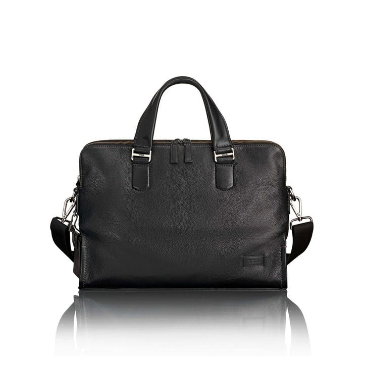 Tumi Harrison Seneca Slim Briefcase, Black