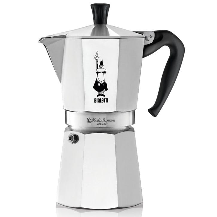 Moka Express Espresso Maker - 12 Cup; Silver