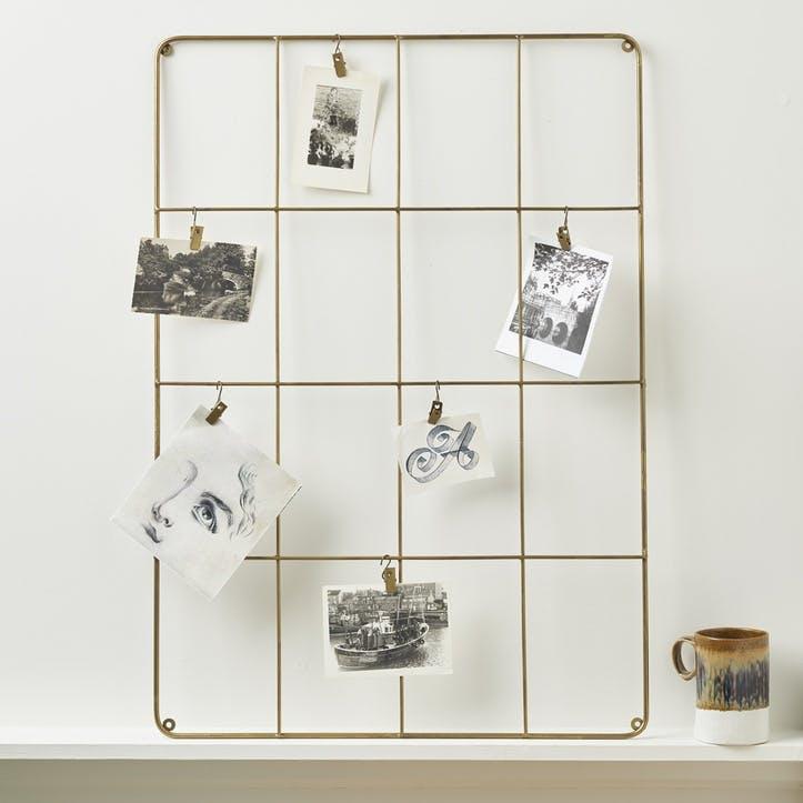 Brass Memo Board