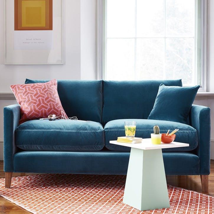 The Izzy, Three Seat Sofa, Armour Smart Velvet