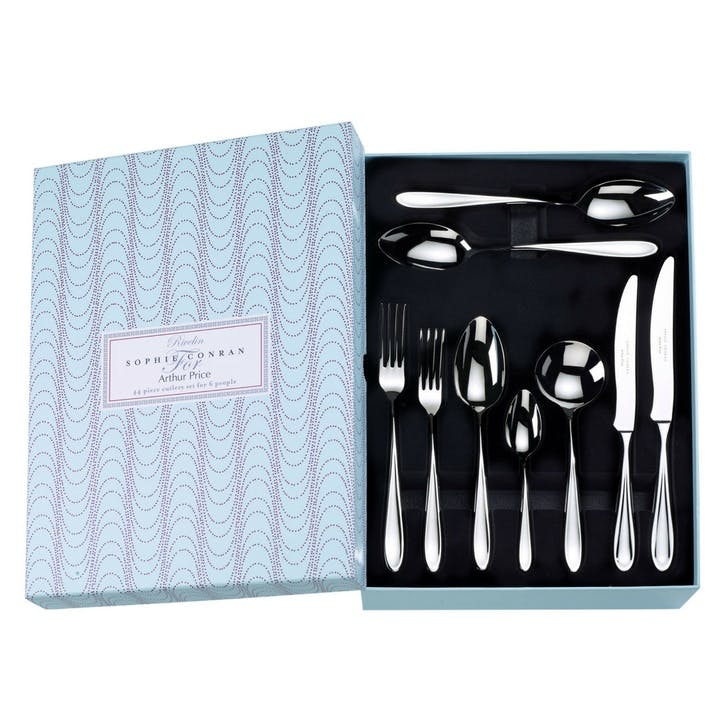 Rivelin Cutlery Set, 44 Piece