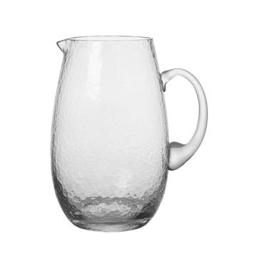 Hammered Jug, Clear