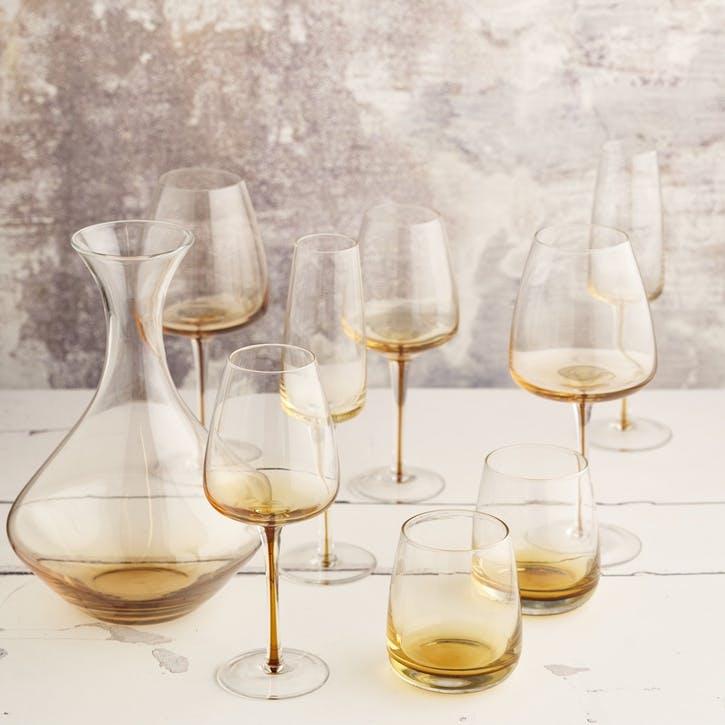 Amber White Wine Glass, Set of 4