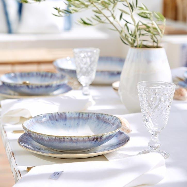 Brisa Blue Pasta Plates, Set of 6