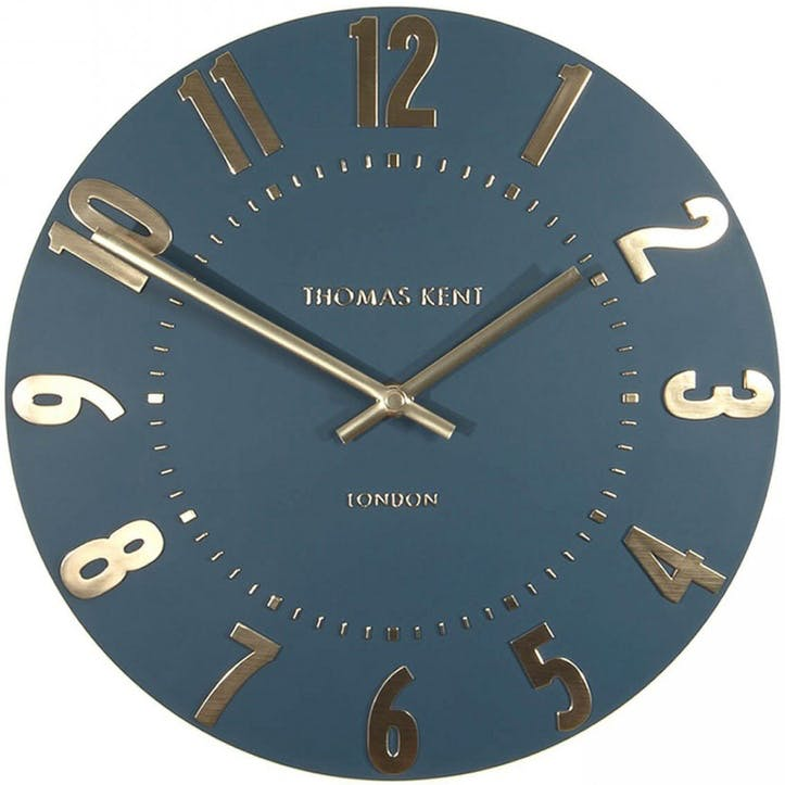 Mulberry Wall Clock, Small, Midnight Blue