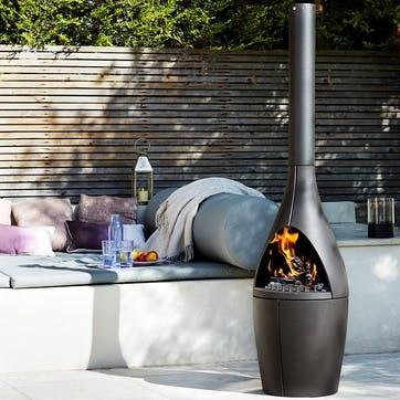 Kamino, Outdoor Fireplace, Black
