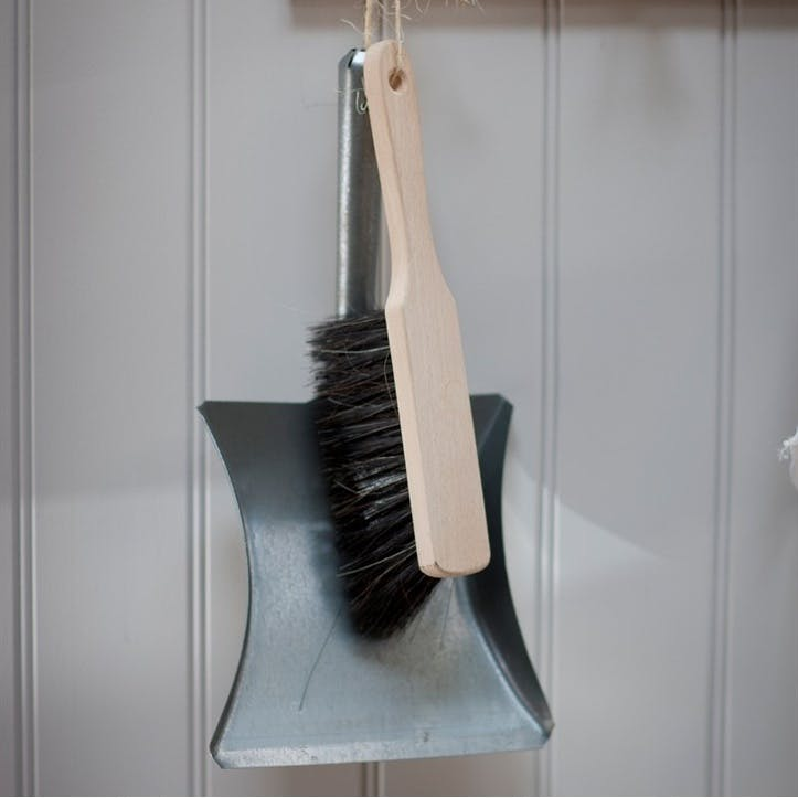 Galvanised Steel Dustpan and Brush