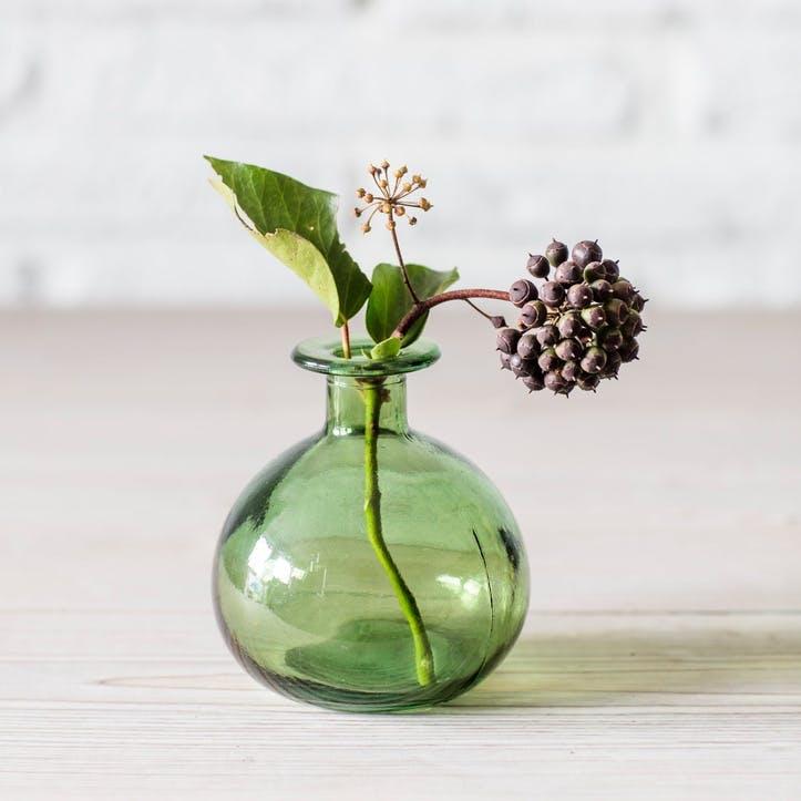 Round Bud Vase, Green